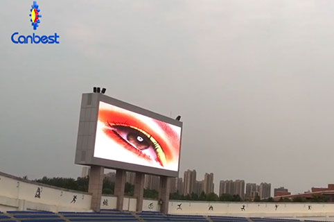 Outdoor Giant LED Billboard P10 Shinning in University